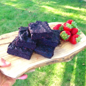Extra gooey, chocolate beetroot brownies